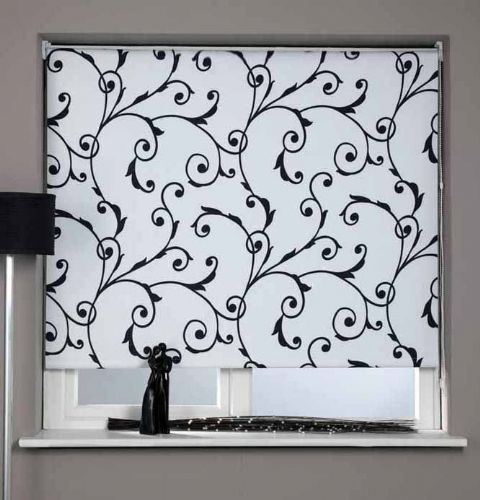 Universal Patterned Blackout Roller Blind - Virginia
